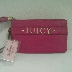 Juicy Couture Pink Faux Leather Wristlet NWT